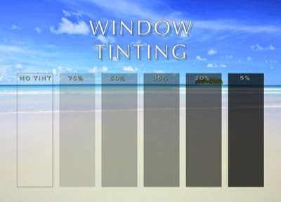 Tonalidades do Window Film