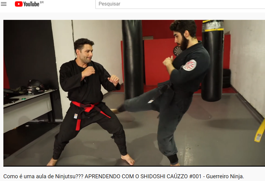 Aulas on line de Ninjutsu