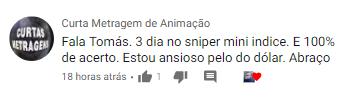 depoimento curso Sniper