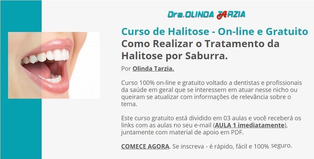 Curso de Halitose por Saburra On-line e Gratuito
