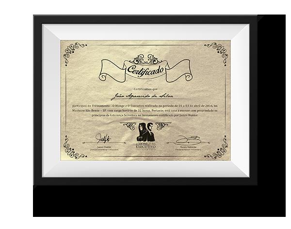 certificado o monge e o executivo