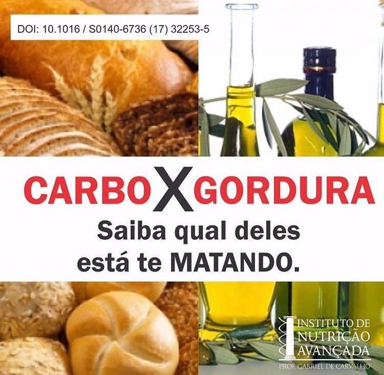 Carbo X Gordura - Saiba qual deles está te matando.