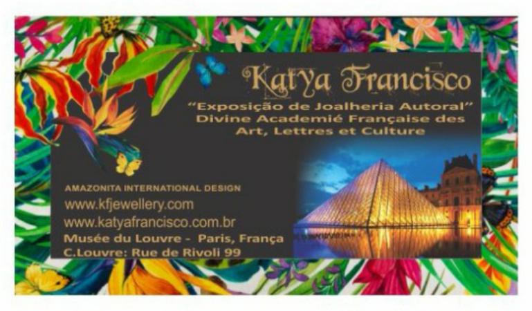 Divulgação da Exposição de Katya Francisco em Paris no Museu do Louvre