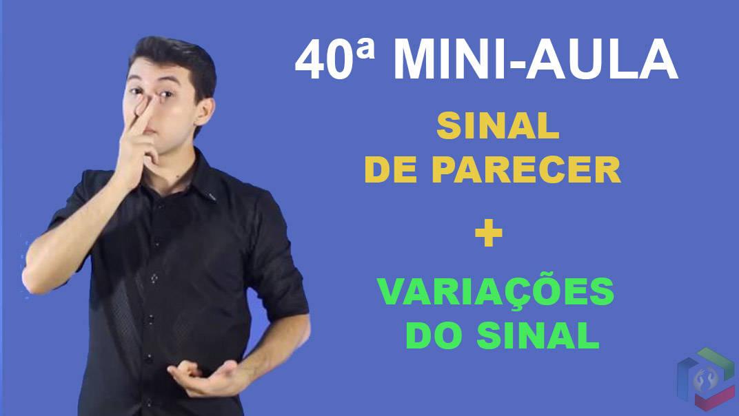 SINAL DE PARECER FRASES EM LIBRAS